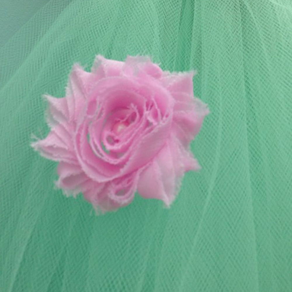 Mint Green O-neck Sleeveless New Year Dresses for Girls Wedding Dress Children Vintage Rose Flower Girls Tutu Dress Ball Gowns (3)