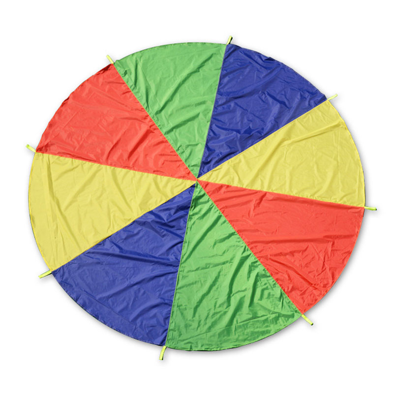 2m Montessori Rainbow Parachute for Kindergarten Children Games Outdoors Sport Activities Early Education Development Kids Toy