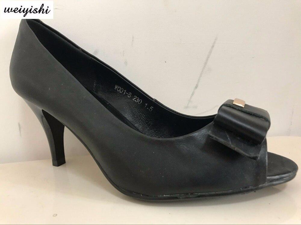 2018ผู้หญิงแฟชั่นใหม่รองเท้า.รองเท้าสุภาพสตรี, weiyishiยี่ห้อ040-ใน รองเท้าส้นสูงสตรี จาก รองเท้า บน   3