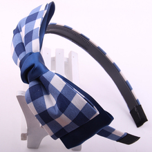 Fashion Korean style hand making Fabrics hairbands with double layers bowknots fashion gilrs quolity ribbon hair accessory 10pcs