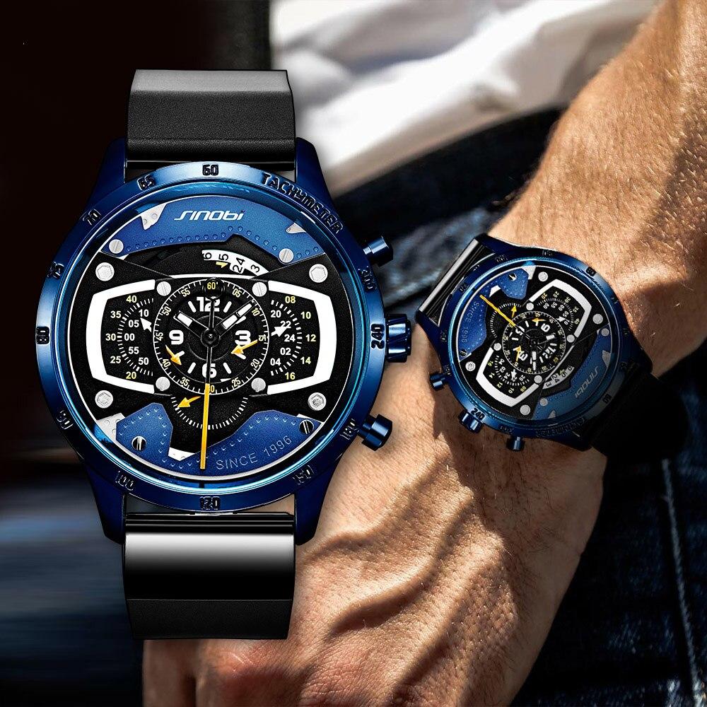 Süß GehäRtet 2019 Neue Kreative Auto Design Herren Uhr Mode Speed Racing Sport Chronograph Quarz Uhren Männer Männliche Große Zifferblatt Reise Uhr Uhren