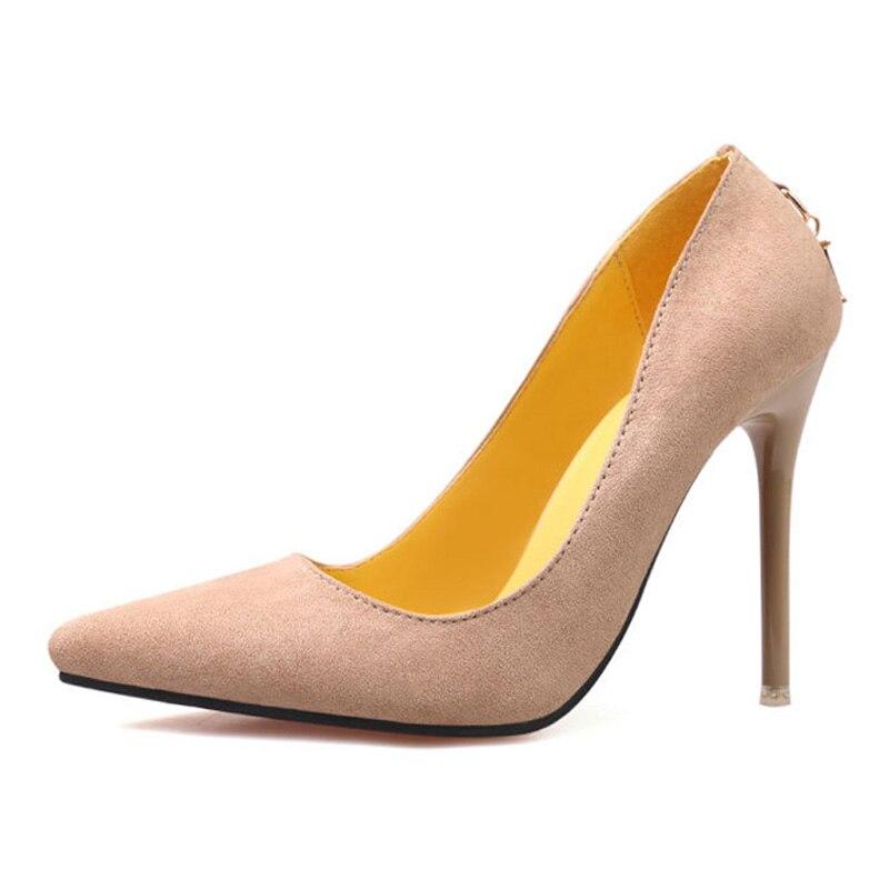 e46f09f63 FONIRRA Mulher De Salto Alto Bombas Senhora Sexy Sapatos de Festa de  Casamento Do Dedo Do Pé Apontado Moda Rebanho Sapatos de Couro para As  Mulheres 283 em ...
