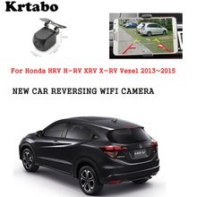 Car wireless rear camera For Honda HRV H-RV XRV X-RV Vezel 2013~2015 car Night HD camera CCD night vision waterproof high qualit цена