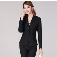 High Quality Sexy Womens Business Suits Custom made Black Formal Suits Ms autumn business suit of office suit custom coat + pant
