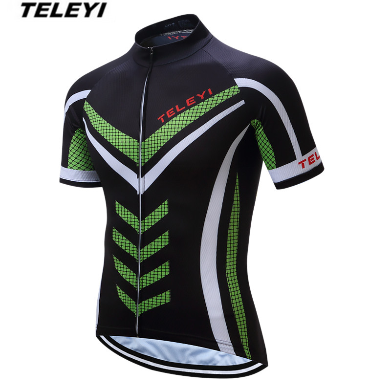 TELEYI Cool Green Pro Cycling jersey Men Bike Jersey top Ropa Ciclismo clothing  clothes Riding MTB bicycle jersey Top Breathable 333f4a45b