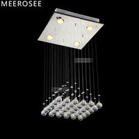 Square Pyramid Design Crystal Ceiling Light Fixture Modern Crystal Lamp Lustres Light Fitting Stair Light MD8792
