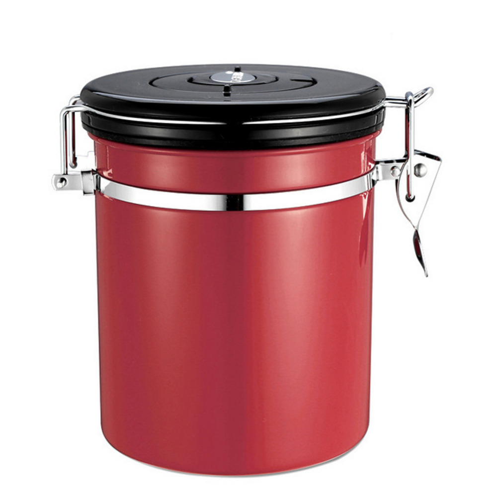 online buy wholesale kitchen canisters stainless steel from china 1l coffee tea sugar storage tanks sealed cans 18 8 stainless steel canisters kitchen storage
