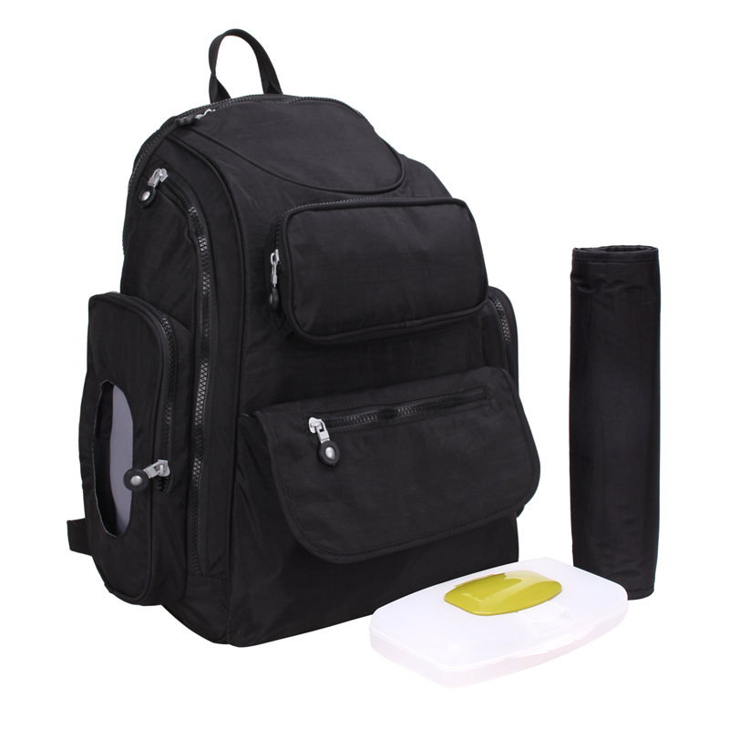 Baby Diaper Backpack Mummy Nappy Bag Multifunctional Changing Bags Mommy Portable Large Storage Stroller Bag Maternity Bag Black