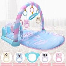 Olago 0-12 месяцев дети ковер тренажерный зал, детские игрушки игровой коврик мягкое освещение погремушки музыкальные игрушки для младенцев Play фортепиано развивающий коврик ковер