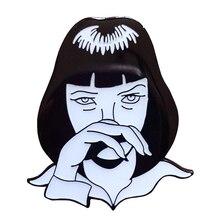 Миа Уоллес целлюлозная Фантастическая эмалированная булавка