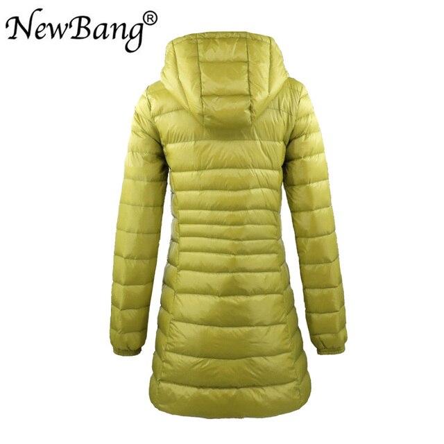 NewBang 8XL Ladies Long Warm Down Coat With Portable Storage Bag Women Ultra Light Down Jacket Women's Overcoats Hip-Length 2