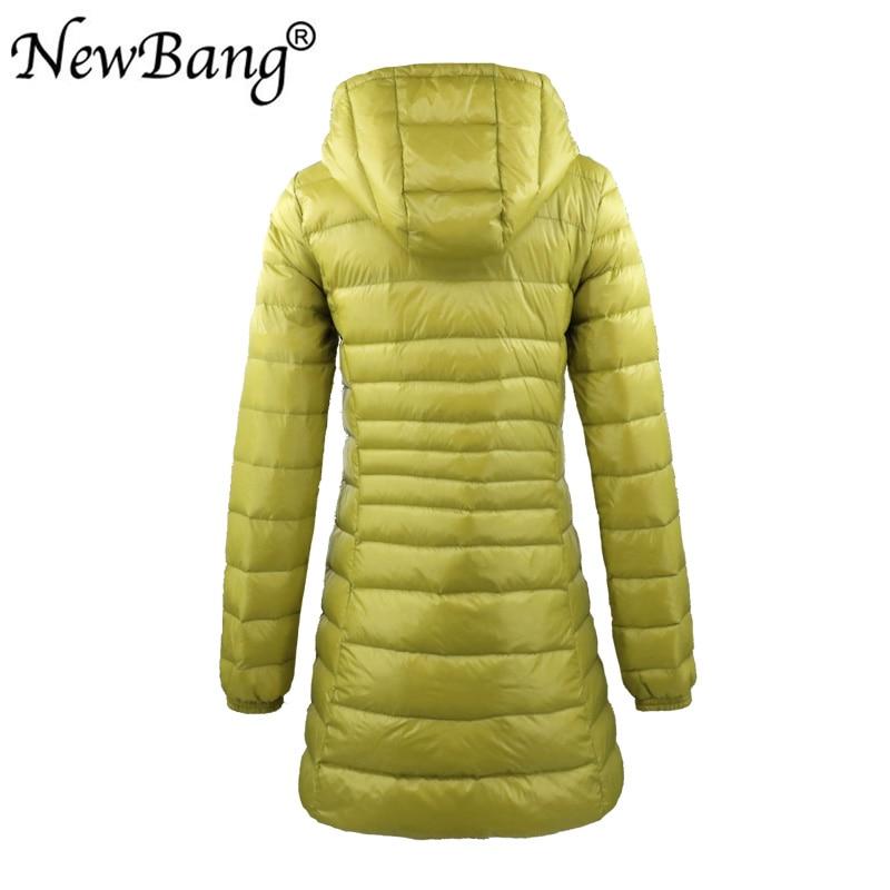 Image 3 - NewBang 8XL Ladies Long Warm Down Coat With Portable Storage Bag  Women Ultra Light Down Jacket Womens Overcoats Hip LengthDown Coats