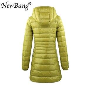 Image 3 - NewBang 8XL damska długa ciepła puchowa kurtka z przenośna pamięć masowa torba damska ultralekka kurtka puchowa damskie płaszcze Hip Length