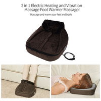 Household Electric Warming Foot Massager Foot Fatigue Relief Electric Heating Vibration Feet Massage Slipper Relaxation Shoes 35