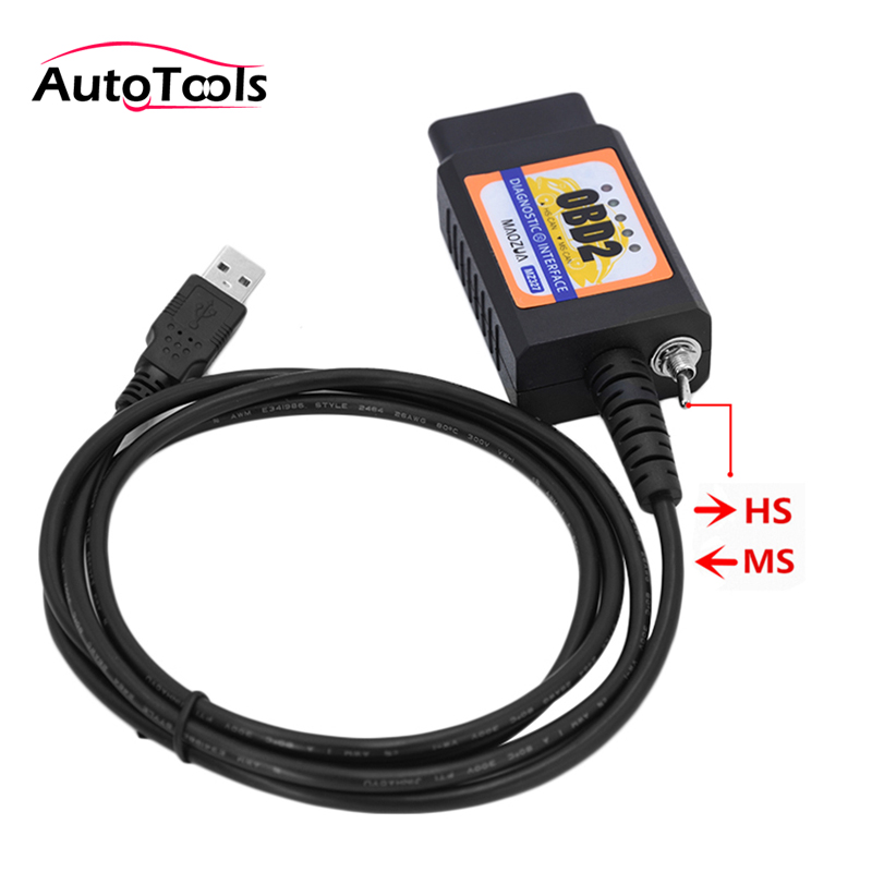 New update ELM327 MZ327 USB V1.5 modified switch for Ford ELMconfig FTDI chip HS-CAN / MS-CAN open hidden tech 2 scanner for sale