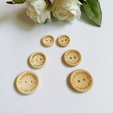 30pcs Mixed Sizes Handmade with love Wood Buttons craft DIY Decoration Accessories Crafts Botones /Botoes