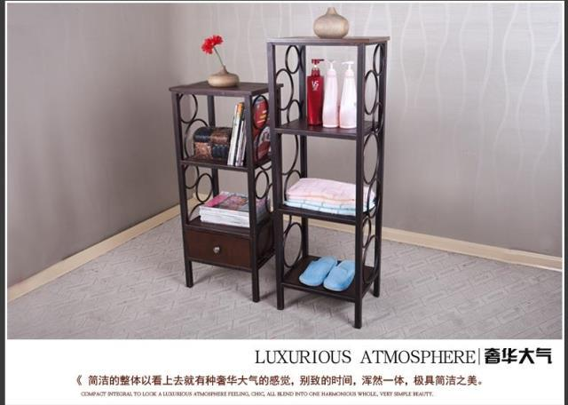 Iron Wood Floor Shelves Continental Shelf Drawers To Put Things In
