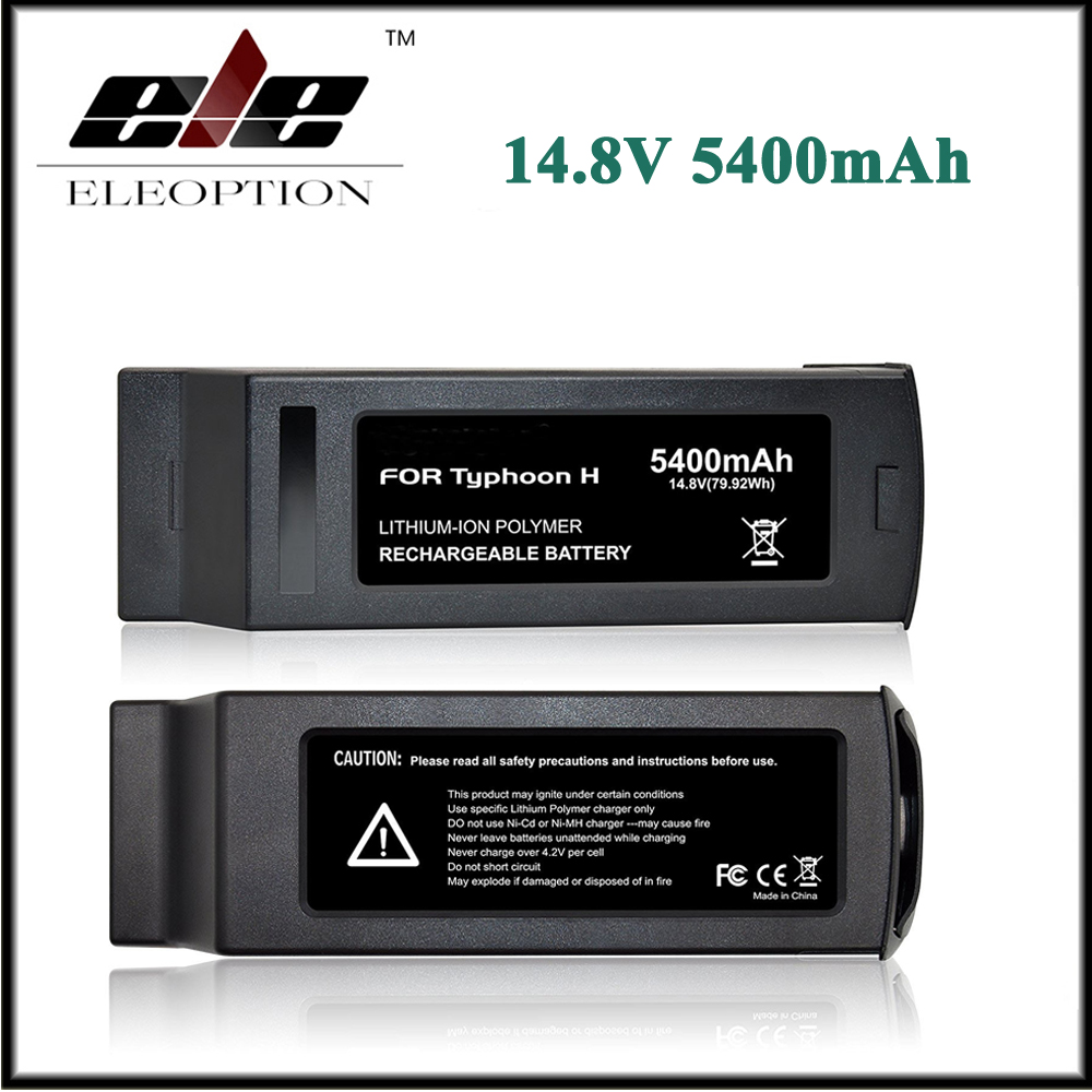 2x Eleoption 4S 5400mAh 14.8V 79.92Wh Replacement LiPo Battery for Yuneec Typhoon H Drone RC Quadcopter yuneec typhoon h rtf black grey гексакоптер