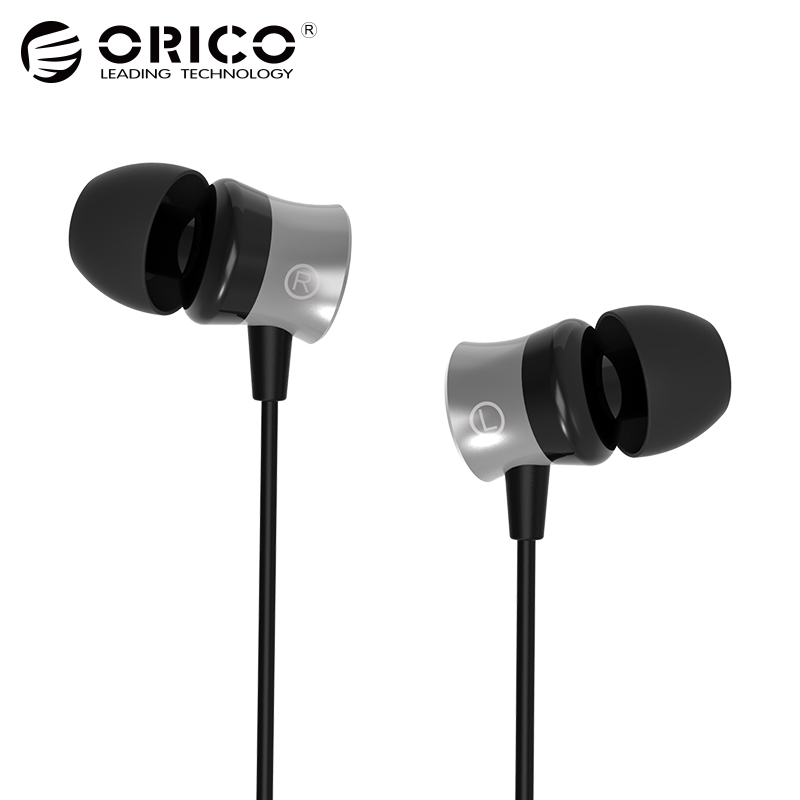 ORICO In-ear Earphone for Phone Headset Metal Phone Earphones with Microphone Earbuds Black omasen om m6 stylish stereo in ear earphone w microphone black white 110 cm