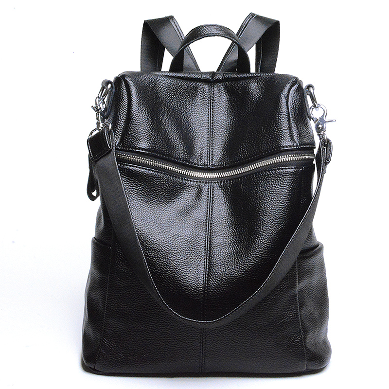 Multifunctional bag Women Backpack High Quality Genuine Leather Bucket Type Shoulder Bag Big Travel Backpacks out