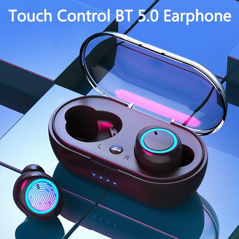 Mini Bluetooth Ear Buds Wireless TWS Earbuds Bluetooth 5.0 Earphone Sports Headphones Stereo Headset Handsfree Waterproof In Ear