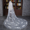 2017 Hot Sale 3 Meter Long Tulle Wedding Accesories Lace Veil Bridal Veils White/Ivory Cathedral Wedding Veil With Comb Bride