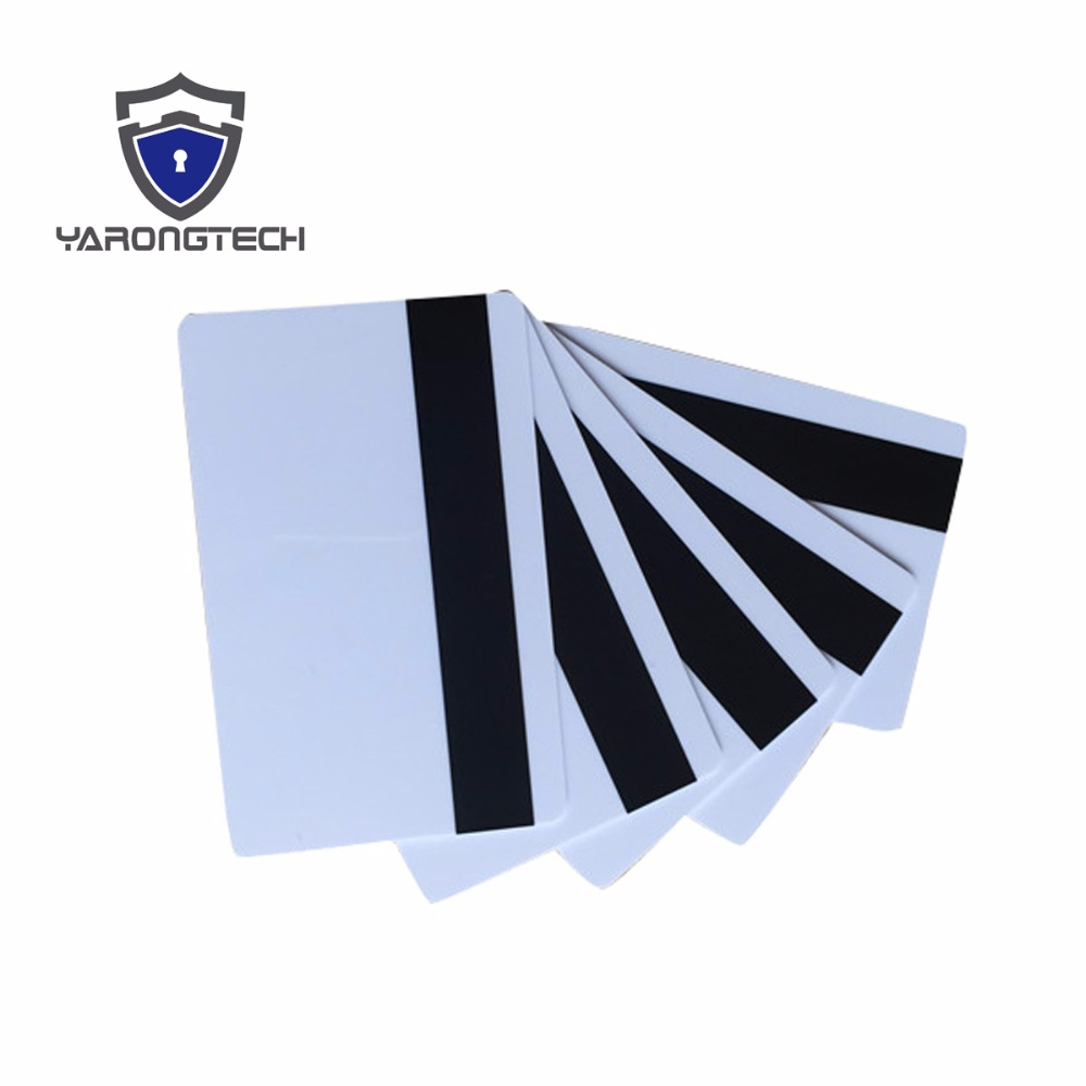 200pcs Blank Plastic CR80 Hico Magnetic Stripe Cards ISO Standard Size Printable White Pvc Card