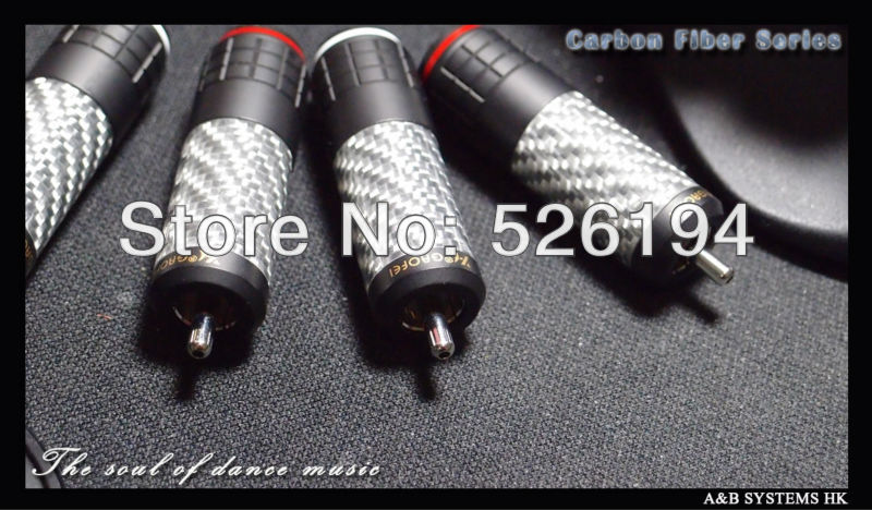 Free shipping 4pcs/lots Gaofei Rhodium Plated Carbon Fiber RCA Plug audio RCA jack for DIY interconnect cable free shipping 4pcs wbt 0152ag silver rca connecters plug wbt rca jack with interconnect cable