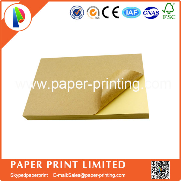 200 Sheets/lot A4 Sticky Kraft Paper, Self adhesive A4 Blank Kraft Label Paper for Laser Inkjet Printer