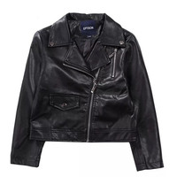 Fashion Girl Boy Punk Style Zipper PU Leather Jackes Children Spring Autumn Jacket Kids Motorcycle Outwear