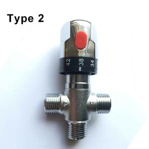 "Image 4 - 1/2 ""אינץ צינור פליז DN15 לשלוט על טמפרטורת מים ערבוב תרמוסטטי ערבוב Valve לדוד שמש מיקסר אמבטיה"