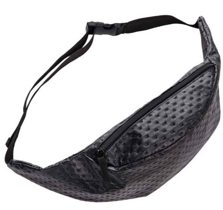 d02b1286ea7b Black Dot leather belt bag PU fanny pack for women waist bag pochete pouch  bag bolsa