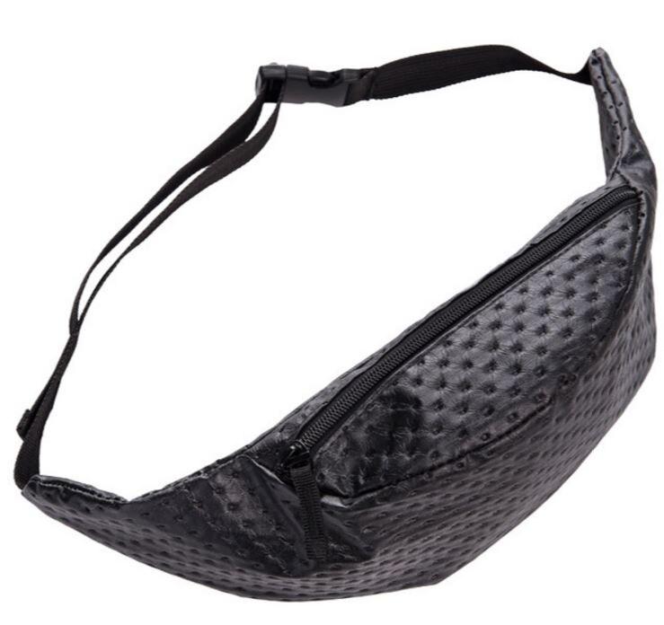 цена Black Dot leather belt bag PU fanny pack for women waist bag pochete pouch bag bolsa cintura sac tour de taille fanny packs
