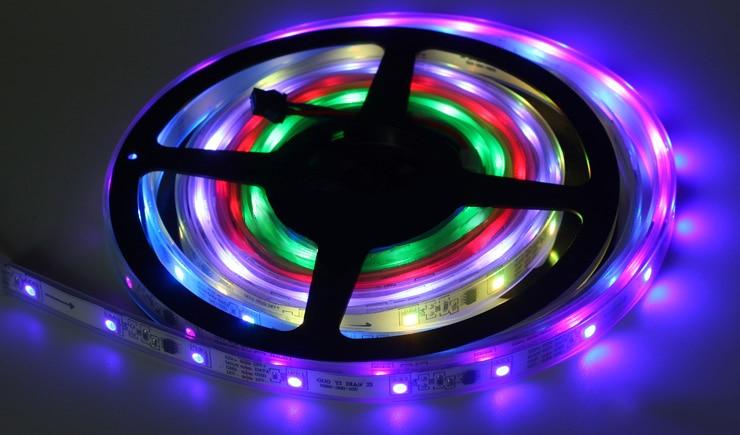 20м 30м 10м 5м СИД 5050 Түс түсі Magic RGB Суға - LED Жарықтандыру - фото 6