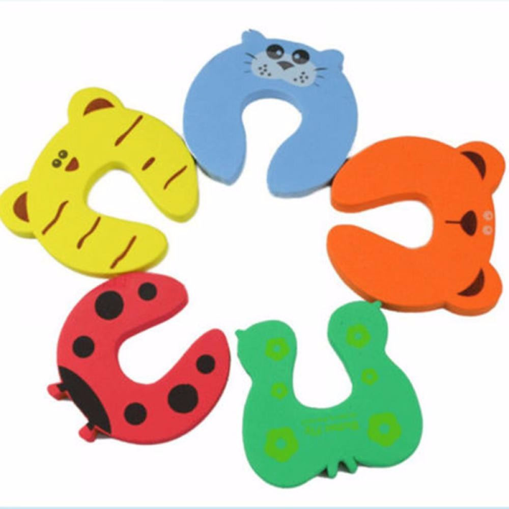 2 pcs Hot Kid Finger Protector Door stopper lock Jammers Pinch Guard Baby Safety