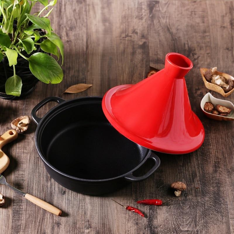 26cm Tagine Pot Cast Iron Enamel Pan Gas And Induction Cooker