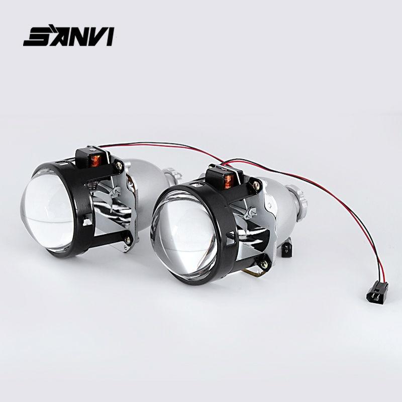 САНВИ HID Би-Ксеноновые объектив проектора комплект включает Hylux балласт преобразования лампы Автомобильные комплекты стайлинга внешнего освещения