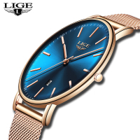 LIGE Watches Women's Top Brand Luxury Watch Business Steel Mesh Belt Ultra Thin Sports Watch Casual Waterproof Quartz Women Wat