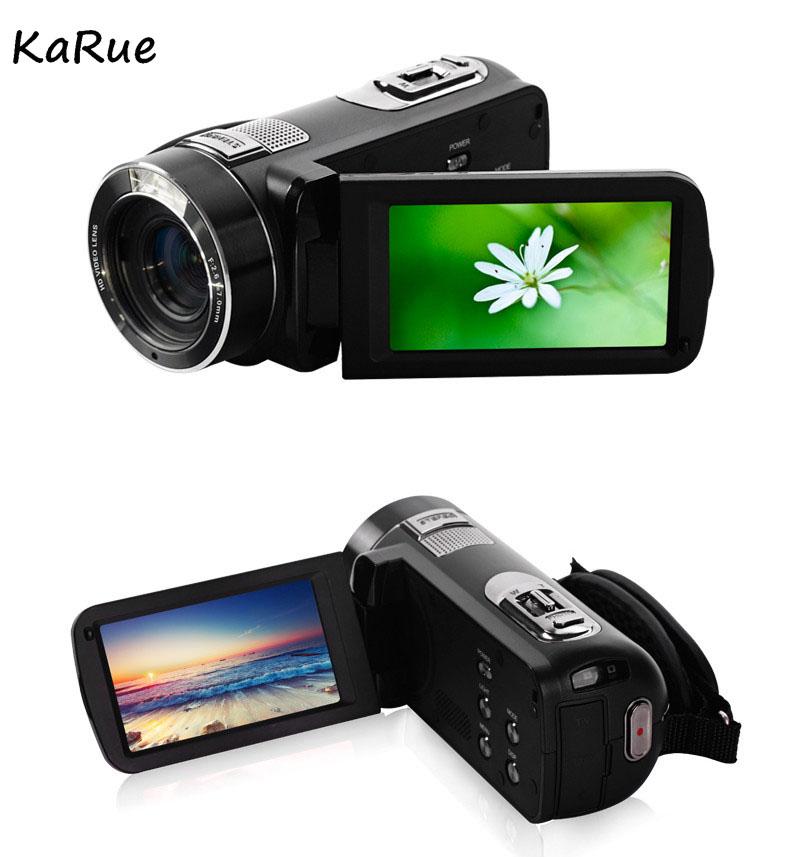 Karue HDV-Z816x Digital Zoom Max. 24MP 1080P Full HD Digital Video Camera Camcorder with Digital Rotation LCD Touch Screen 4