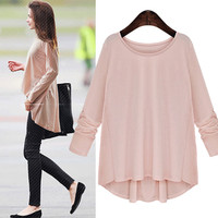 2017 Spring Summer New Brand Solid Casual Women Blouses Shirts Long Sleeve O Neck Bow Tie