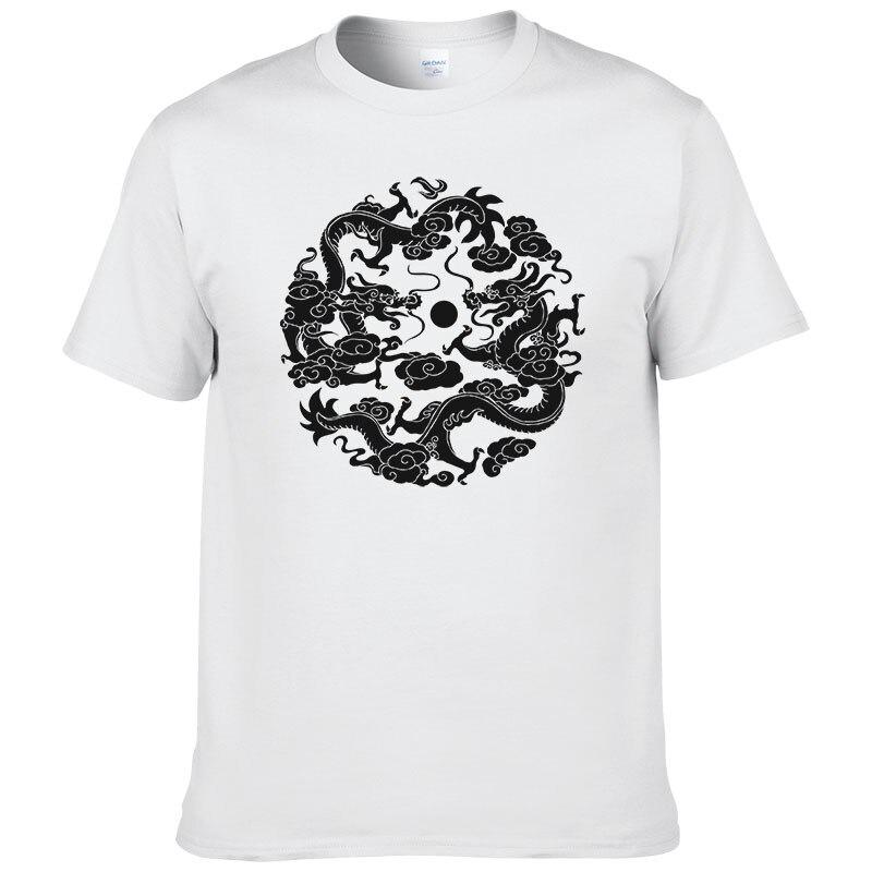 2019 été noir chinois Dragon Totem T-shirt hommes mode cool chemise marque imprimé T-shirt bonne qualité coton t-shirts WTW