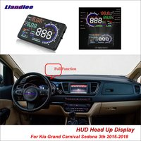 Liandlee Car HUD Head Up Display For Kia Grand Carnival Sedona 3th 2015 2018 Safe Driving Screen OBD Projector Windshield