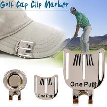 Gorąca Wyprzedaż Golf Cap Clip Golf Ball cel marker Alloy profesjonalne Golf szkolenia AIDS akcesoria wysokiej jakości promocja tanie tanio Golf aiming mark Clothing Shoes Cap