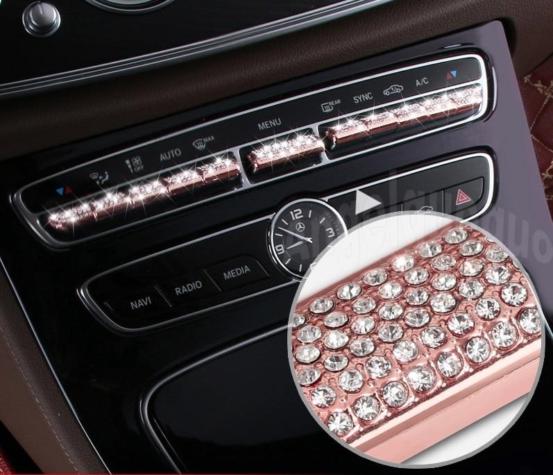 Car Center Console Button Sticker For Mercedes Benz 2016