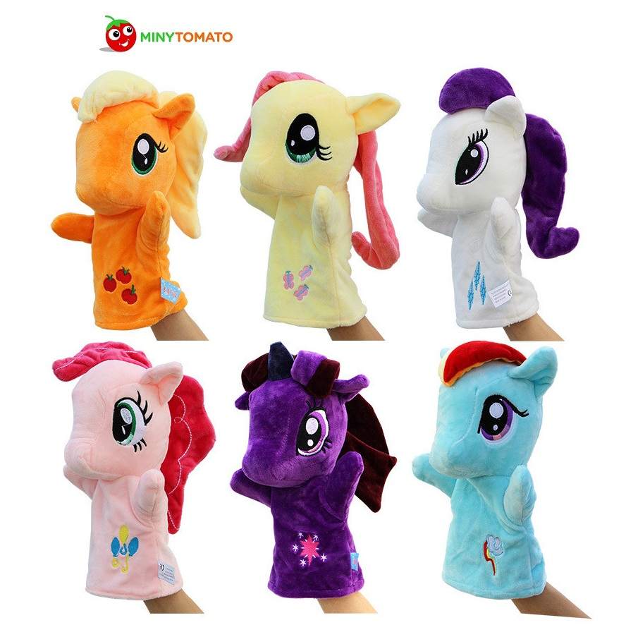 27cm Plush Toy Cartoon Hand Puppet Appease Little Horse Unicorn horse Plush Cotton Baby Children Bedtime Telling Story Gift