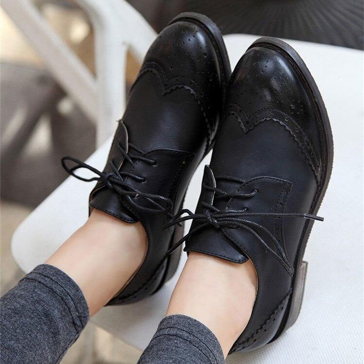 Voorjaar Echte Oxfords Vrouwen Vrouwelijke Schoenen Mode 2015 Lace naREwpxdnq