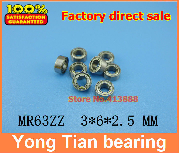 Low-speed bearings MR63ZZ MR63-2RS SMR63ZZ SMR63-2RS L-630ZZ WA673ZZA 3x6x2.5 mm helicopter model car available MR63 RS MR63-2RS high quality of non standard special motor bearings mr125zz size 5 12 4 mm helicopter model car available