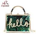 Женская сумка-мессенджер Hello Box  с градиентными цветами и блестками  на плечо  для вечеринок