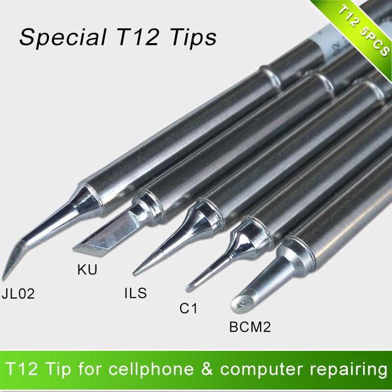 T12 pointes de fer à souder ensemble spécial T12-BCM2 ILS KU C1 JL02 pour téléphone portable téléphone portable & réparation d'ordinateur