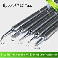T12 punte di ferro di saldatura speciale set T12-BCM2 ILS KU C1 JL02 per il cellulare cellulare e del computer di riparazione